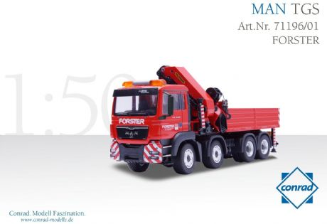 "Conrad MAN TGS 4axle with PALFINGER crane ""Forster"""